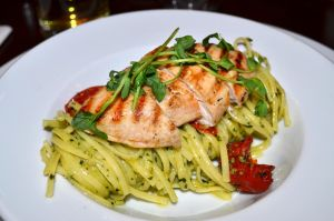 Char-Grilled Chicken with Fresh Linguine Pasta by cncplyr