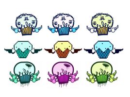 Muffin stickers pack2 by Frost-mur