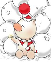 Christmas Moogle in color by xHINATA