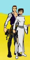 SW couples: Han and Leia by LadyIlona1984