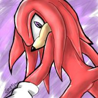 Knuckles oekaki by SpaceFoxy