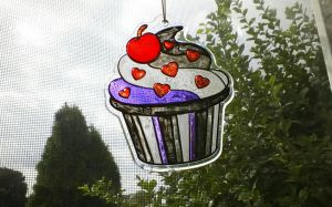 Stained glass asexual cupcake by Frothingham