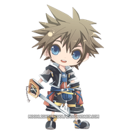 Chibi Sora by MoonlightTheWolf
