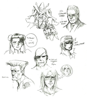 SOME FIGHTERS by Rakugaki-otoko