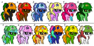 Pony month adopts by MephilesfanforSRB2