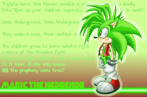 Manic the hedgehog wallpaper by shadowhatesomochao
