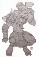 Tauren Sketch Test by StriderDen