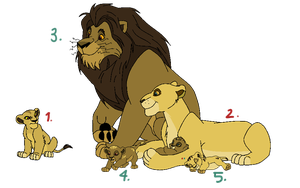 Family Lion Adoptables! {closed} by LionsoftheGrasses