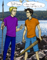 Percy Jackson and Jason Grace ~By Burdge-Bug by Juh1501