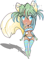 Pin-Up Cheebu Squirrely-Chan by TehButterCookie