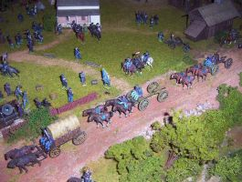Union Artillery Supply Train by ThePaleGuy