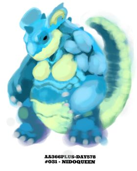 Aa366plus 2015-010-18 Day578 No-031 Nidoqueen by AA366PLUS