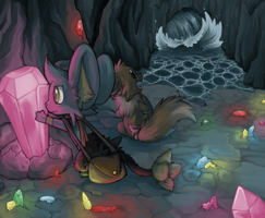 Waterfall Cave by Karry-Bird