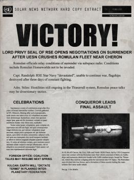 Romulan War victory newspaper by thefirstfleet