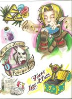 Zelda Tattoo Flash PART 2 by ShunAndromeda