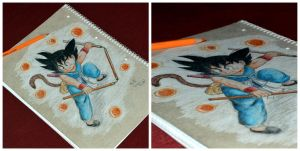 Son Goku on my notepad! by TamiiBe