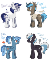 [CLOSED] - Blue-Haired Ponies by Featheries