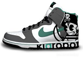 Pirate Kidrobot Nike Dunks by becauseimjay