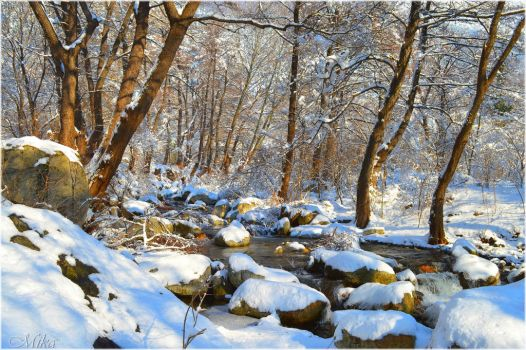 Snow river by MamaMika