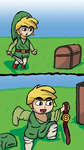 Link finds a hidden treasure by DKalternate