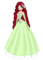Prize: Amelia in a nature inspired ballgown by MissKaytheLaReveuse
