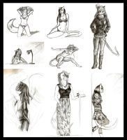 Anthro Sketch Dump by SaellekStar