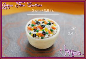 Miniature Rice Salad 1:12 by Jeyam-PClay