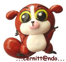 Mortino polymer clay pin by cernittando
