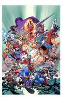 Sega and Capcom by ReillyBrown