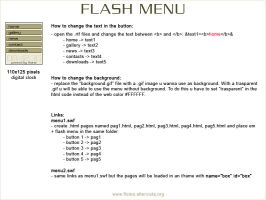 Flash Menu by floina