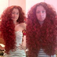 Merida wig revamped WIP by RapunzelHermioneDaae