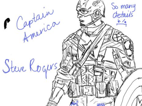 Captain America- Sketch by yinyangbabe256