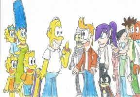 The Simpsons meets Futurama: The Super Crossovers! by FelixToonimeFanX360