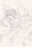 Princess Serenity (Line Art) by Princess--Ailish