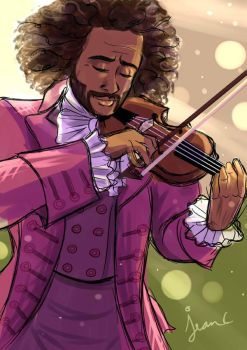 Hamilton: He plays the violin by WithSkechers