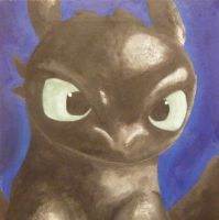 Toothless - How to paint your dragon by Ahea