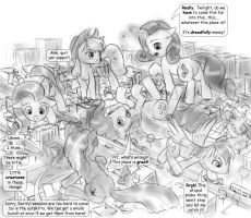 messy macro mane six by AlloyRabbit