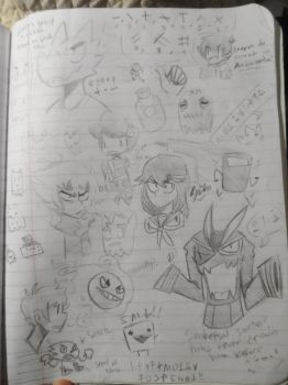 Comp Book Doodles 16 by Ionic-Isaac