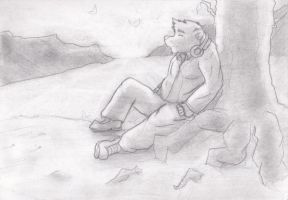 SunSet +pencil work+ by Galvin-wolf