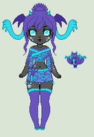 Icy Flame Adoptable - Dilasia Species (Closed) by LittleAlyce