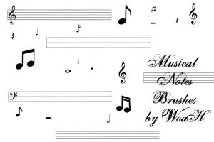 Musical Notes Brushes by WingsOfAHero