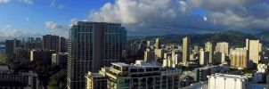 Waikiki Skyline by joeyartist
