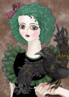 The Raven With The BrokenWings by willowgothicprincess