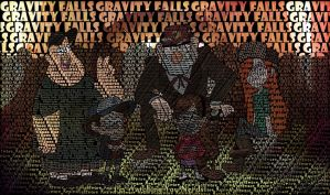 Gravity Falls Typography II by Atlantagirl