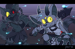 Oni and Inu Trouble by Yark-Wark