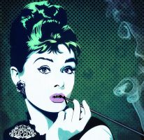 Hepburn pop Vector by Tizyhunter