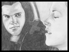 Twilight - Bella and Jacob by JLafleurArt