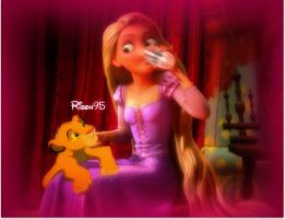 Rapunzel and Simba - Request by Ribon95