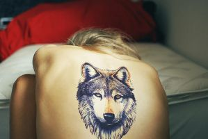 Wolf tattoo by White-wolfeh