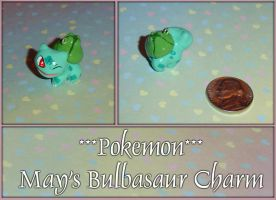 Pokemon - Mays Bulbasaur Charm by YellerCrakka